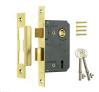 "Era 3 Lever Sashlock 3"" Brass Effect - Brass Eff 76mm"